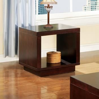Steve Silver Company - Toronto Contemporary End Table / Nightstand in Cherry Finish $168 24''W x 22''D x 22''H