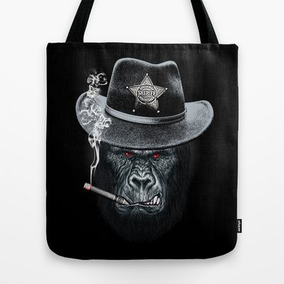 Sheriff Tote Bag by moncheng - $22.00