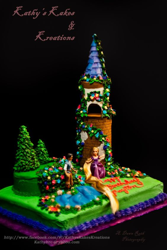 Payton's birthday cake.... Tangles from Disney
