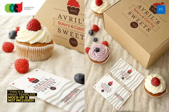 Bakery - Business Card 48 + Logo by Cooledition on Creative Market
