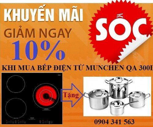 Khuyến mại khủng khi mua bếp điện từ Munchen QA 300I