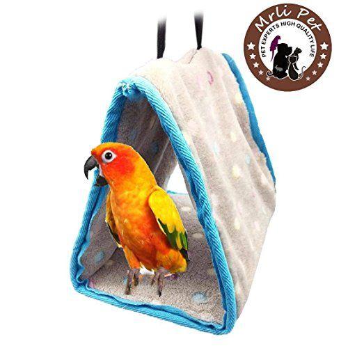 "Parrot \ 12/"" Bird Hanging Snuggle Perch Swing"