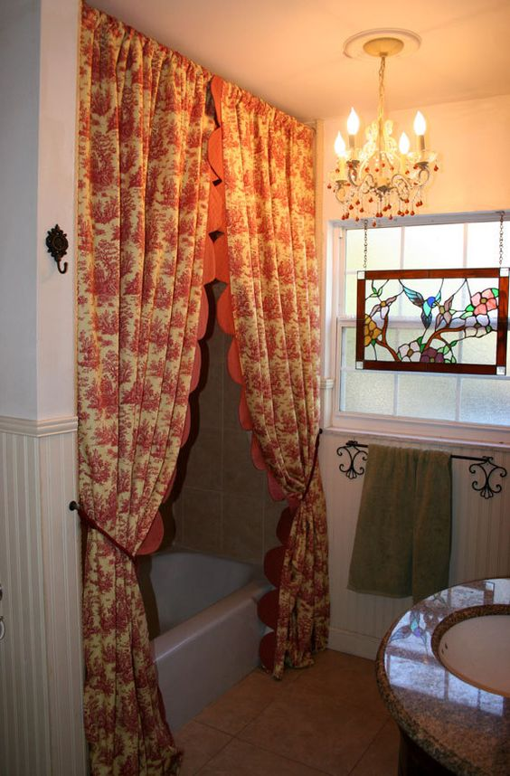 French Country Shower Curtains And Toile On Pinterest