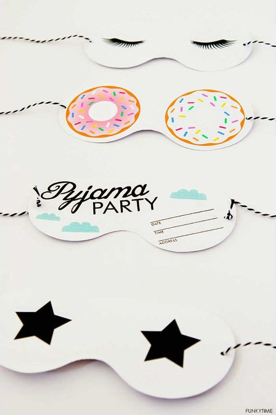 Adorable pyjama party invitations | - Tinyme Blog