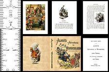 1:6 SCALE MINIATURE BOOK ALICE IN WONDERLAND TENNIEL PLAYSCALE BARBIE