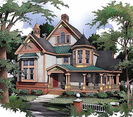 To be traditional and home on pinterest for Victorian house plans with turrets