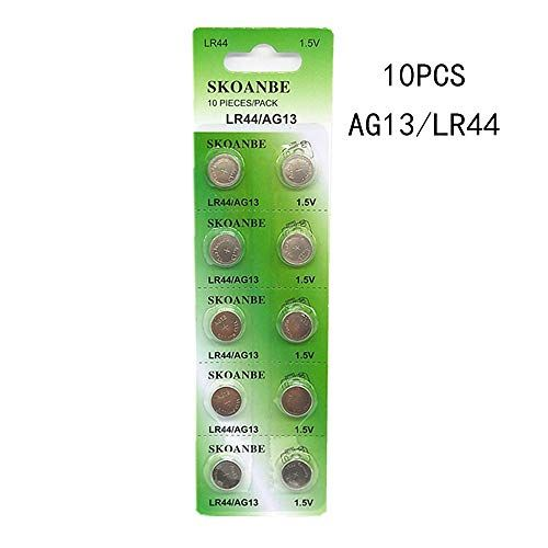 Skoanbe 10pcs Ag13 Lr44 357 303 Sr44 1 5v Battery Button Coin Cell Batteries Batteries Cell Battery