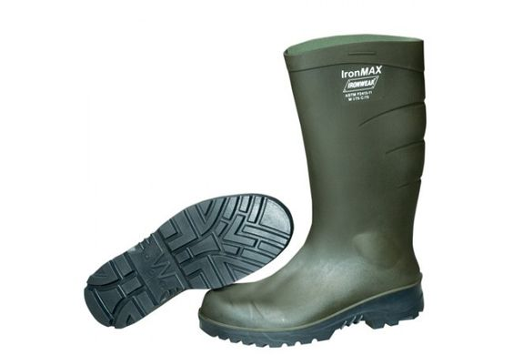 """9295 - Green PU 16"""" Boot With Safety Toe (6 Pairs)"""