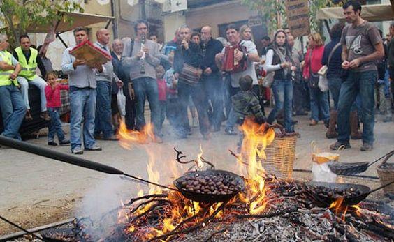 Viladrau (chestnut fair) (fira de la castanya) Montseny, Girona  Catalonia