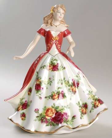 Old country rose: Royal Albert Figurines of the Year at Replacements, Ltd