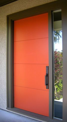 Front Door Paint Colors Want A Quick Makeover Paint Your Front Door A Different Color Here Contemporary Front Doors Orange Front Doors Painted Front Doors