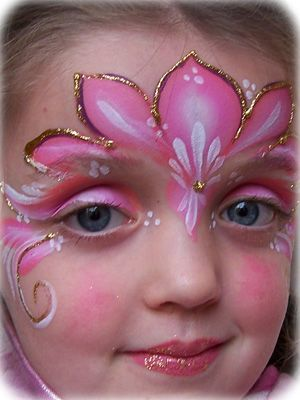 Princess flower pedals.  Natalie LOVES to do face paintings....I wish I were better at it though! LOL!: