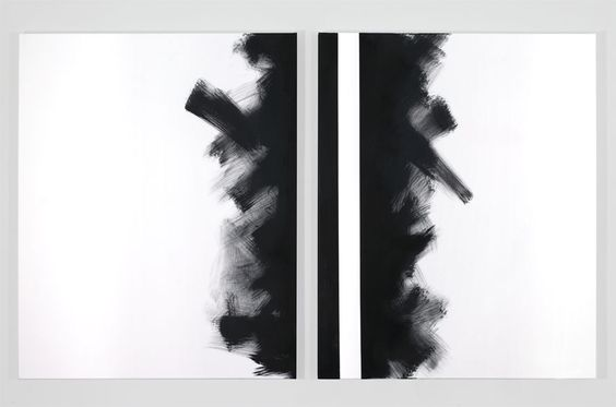 Pippo Lionni, GRAYMATTERS 38, 2010, acrylic on canvas, diptych, 100x160cm