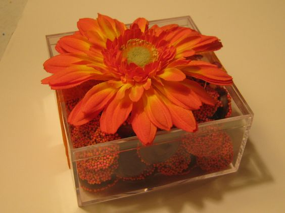 Non-pareils in fluorescent pink and orange.  Great for Mother's Day!