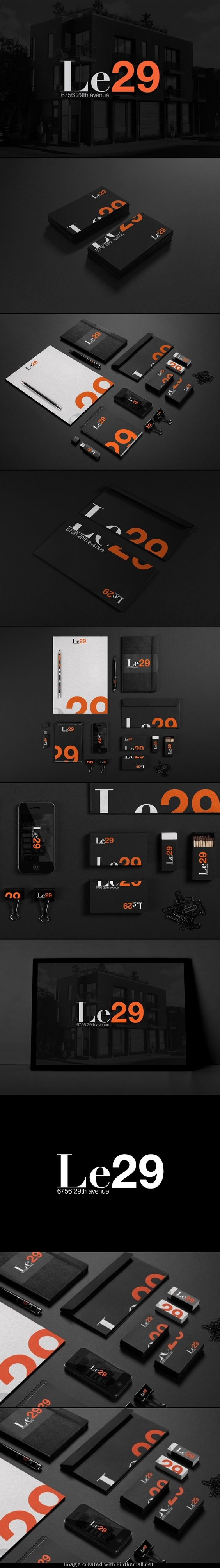 Sleek accomplished branding for Le29 identity. The full family looks an impressive piece of work.