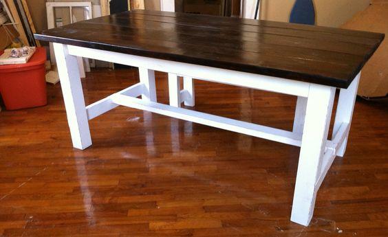 Reclaimed Wood Farmhouse Table https://www.facebook.com/GrantvilleGoodWood