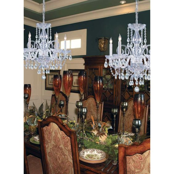 Crystorama 1005-CH-CL-MWP Traditional Crystal Chandelier - 22W in.