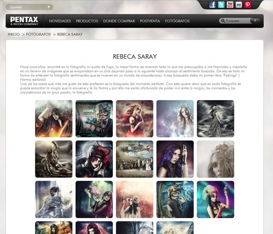 Rebeca Saray en Web Pentax