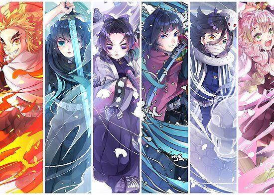 Demon Slayer Kimetsu No Yaiba Hashira Poster By Lawliet1568 Anime Slayer Anime Anime Demon