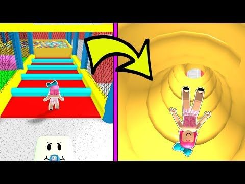 Roblox Sliding Down 999 999 Inches Into A Ball Pit Youtube Ball Pit Roblox Games Roblox