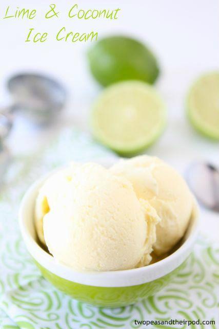 Lime & Coconut Ice Cream.
