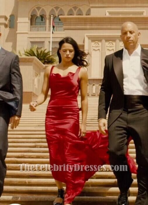 Red dress fast and furious 7 super