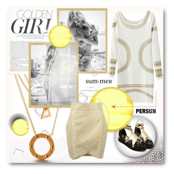 """Golden Girl"" by yoa316 ❤ liked on Polyvore"