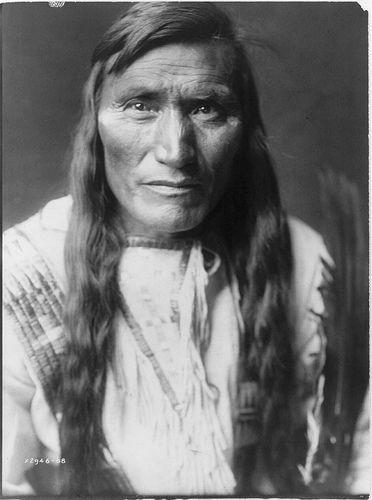 Native American Edward Curtis Atsina Man with Long Hair by griffinlb, via Flickr