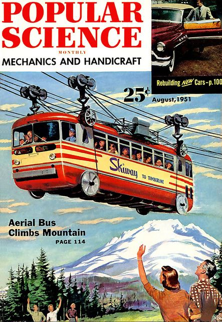 Aerial bus in Popular Science, 1951: