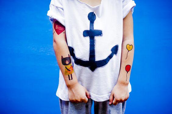 Caímos de amores pelas tatuagens temporárias da Le Petit Pirate!