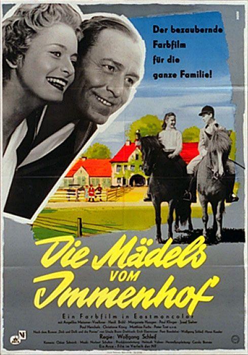 Filmplakat Madels Vom Immenhof Die 1955 Poster Zum Film Die Madels Vom Immenhof 1955 Die Filmplakat Immenhof Jugen Filme Filmplakate Alte Filme
