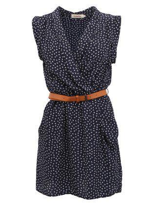 Louche - Zavinovací šaty  s potiskem mašliček - 1