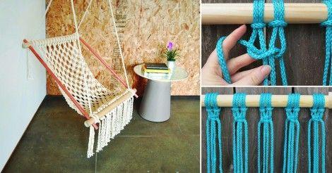 Arma tu propia silla de macramé para leer al sol o descansar en tu patio trasero.