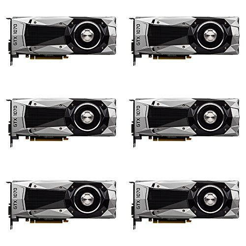 6 Packs Of Nvidia Founders Edition Geforce Gtx 1070 8gb Graphic Card Nvidia 8gb