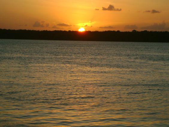 sunset @ paraíba river. paraíba, brazil.