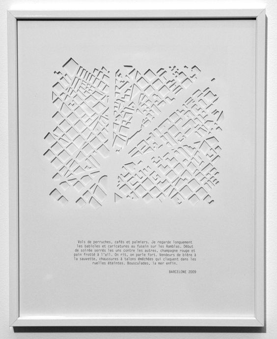 Armelle Caron Cut Paper Silhouette of Barcelona