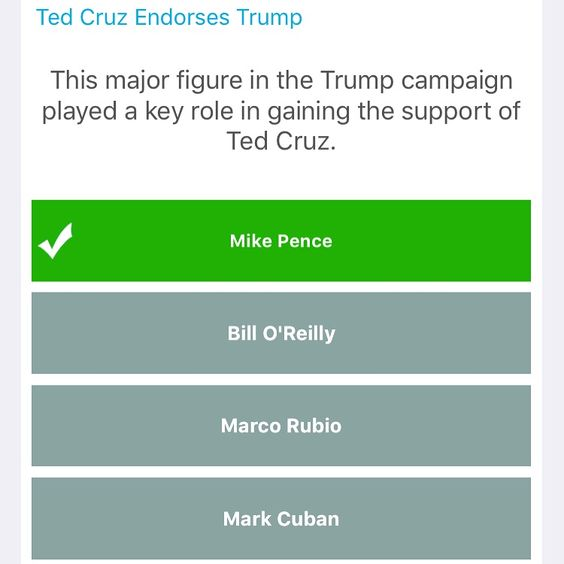 Did you know that Mike Pence helped Donald Trump by bringing Ted Cruz over to their campaign? Download the free VoteWorthy app now to learn more: www.voteworthyapp.com #Election2016