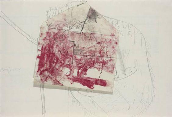 Joseph Beuys 'Probe in the bloodstream of the oak', 1958 © DACS, 2014
