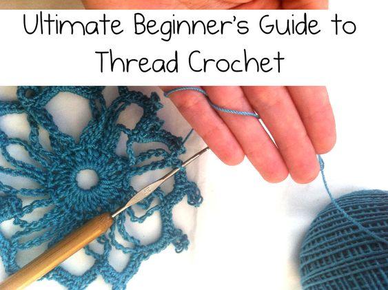Redheart blog: Ultimate beginner's guide to thread crochet.