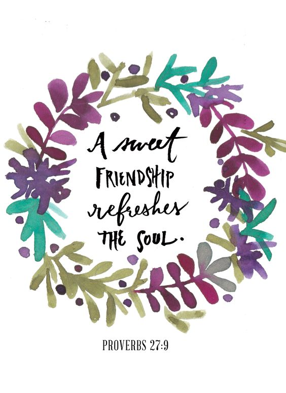 """""""A sweet friendship refreshes the soul."""" {Proverbs 27:9, MSG} I Believe in Guilt-Free Friendship I want to be the kind of friend who gives ..."""