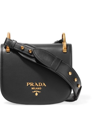 Prada | Pionnière leather shoulder bag | NET-A-PORTER.COM
