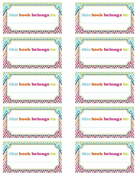 Free kids labels template.
