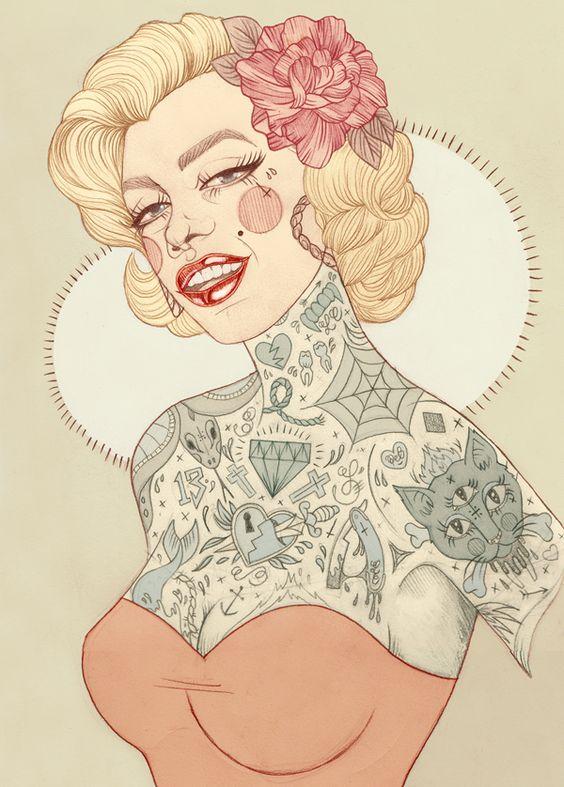 Marilyn - Liz Clements Illustration