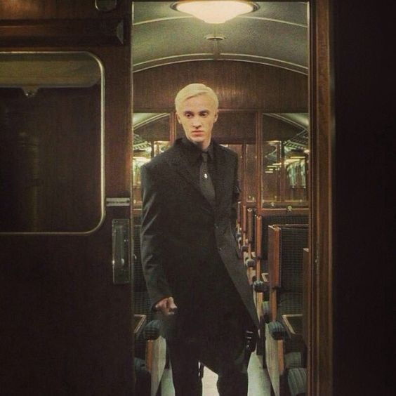 Draco Malfoy. Soooooo pretty. Even while brooding the Epic Swarthy Lonely Heathcliff Angst of Death