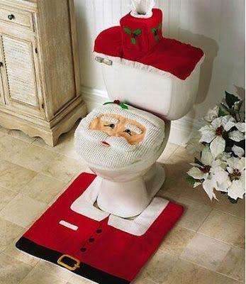Decoracion Navidad: Cobertor para inodoros