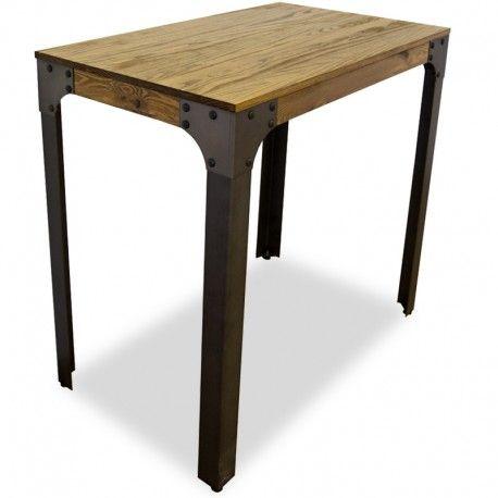Mesa alta para taburetes, estilo vintage e industrial, fabricada ...