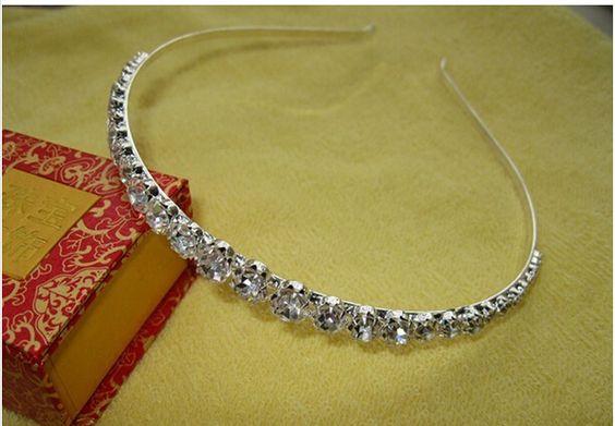 schijnt 1 rij heldere kristallen bruiloft strass haarbanden haar accessiries partij hoofdband hoofddeksel bruids tiara in Wij zijn professionele fabriek in suzhou trouwjurk. Onze producten omvat bruidsjurken, bruidsmeisje jurken, bloem meisje van bruids hoeden op AliExpress.com   Alibaba Groep
