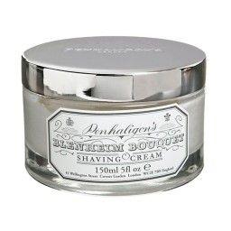 Penhaligon's Blenheim Bouquet Shaving Cream with Silver Plated Lid 150ml Scheercrème  Penhaligon's traditionele scheerzepen en crèmes zijn gemaakt van de fijnste ingrediënten en hebben uitstekende stoppel verzachtende en conditionerende eigenschappen die een glad scheerresultaat en een heerlijk geurende huid verzekeren zonder te irriteren.