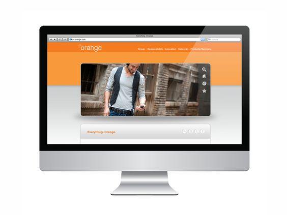 Orange re-brand by Yana Carstens, via Behance