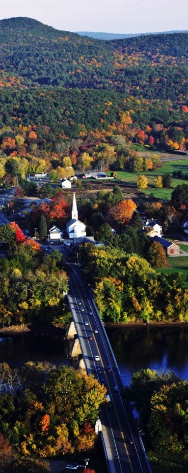Classic Connecticut - Beautiful fall colors, white steepled - lap sided church, in a quaint little town. I do miss this!